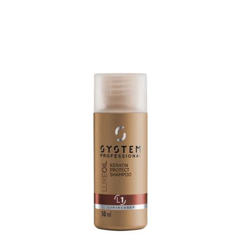 System Professional LuxeOil Shampoo L1, 50ml - Champù de Queratina para Cabello Danado