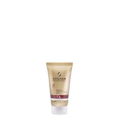 System Professional LuxeOil Conditioning Cream L2, 30ml - Acondicionador de Queratina para Cabello Danado