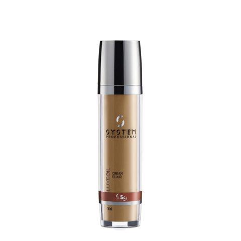 System Professional LuxeOil Cream Elixir L5c, 50ml - Crema de Queratina para Cabello Danado