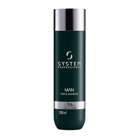 System Professional Man Triple Shampoo M1, 250ml - Champù Cabello Cuerpo y Barba