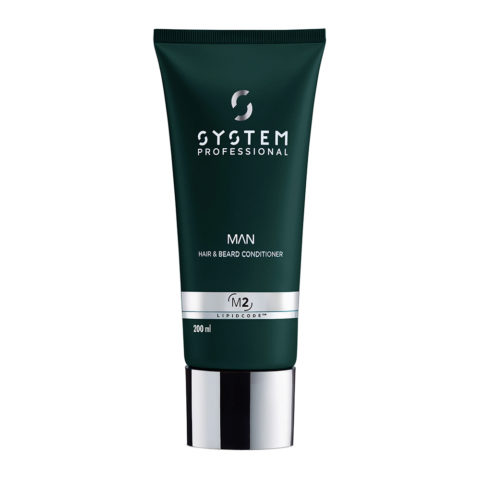System Professional Man Hair & Beard Conditioner M2, 200ml - Acondicionador Cabello y Barba