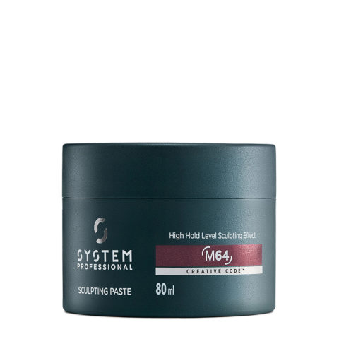 System Professional Man Sculpting Paste M64, 80ml - Cera de fijación fuerte