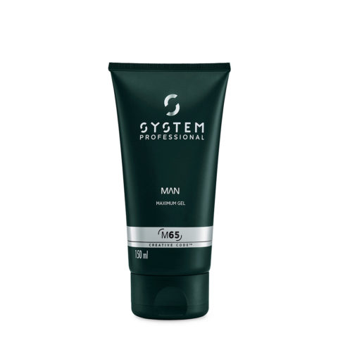 System Professional Man Maximum Gel M65, 150ml - Gel de fijación fuerte y brillante