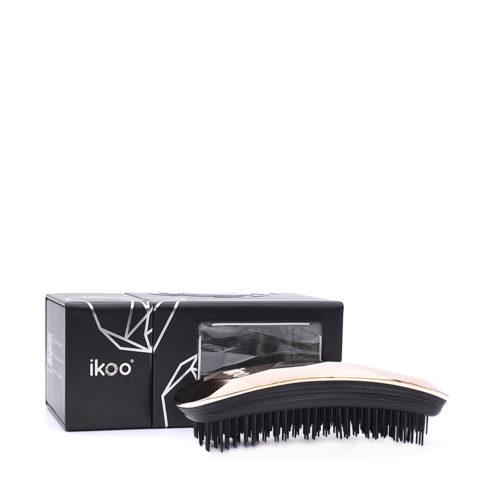 Ikoo Ergonomic Brush Black Gold Digger light pink - Cepillo Desenredante