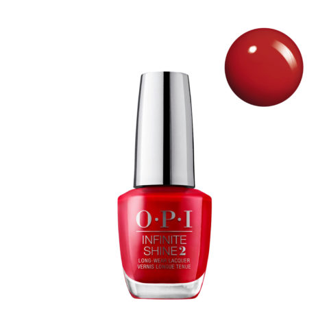 OPI Nail Lacquer Infinite Shine ISL N25 Big Apple Red 15ml - Esmalte de Uñas Efecto Gel