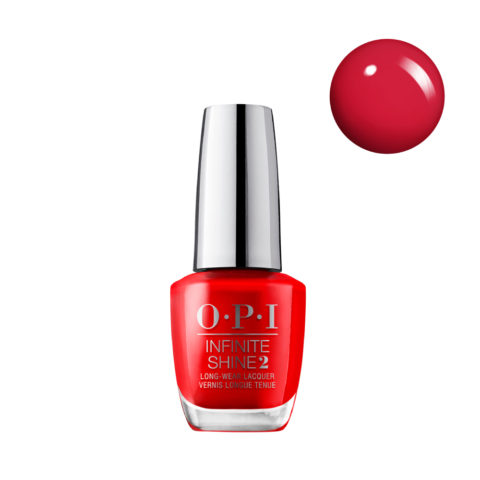 OPI Nail Lacquer Infinite Shine IS L08 Unrepentantly Red 15ml - Esmalte de Uñas Efecto Gel