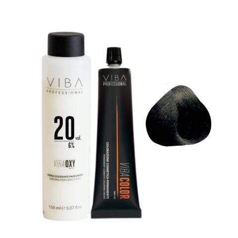 Viba Professional Kit Color 1 Negro y Oxigeno  20 vol