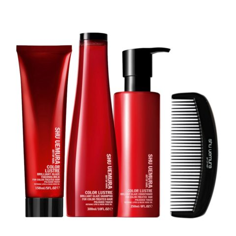 Shu Uemura Color lustre kit shampoo 300ml conditioner 250ml thermo-millk 150ml