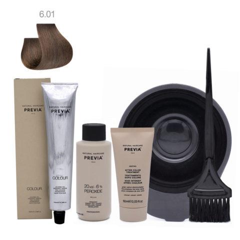 Previa Color Kit Completo 6.01 Rubio Oscuro Cenizo Natural