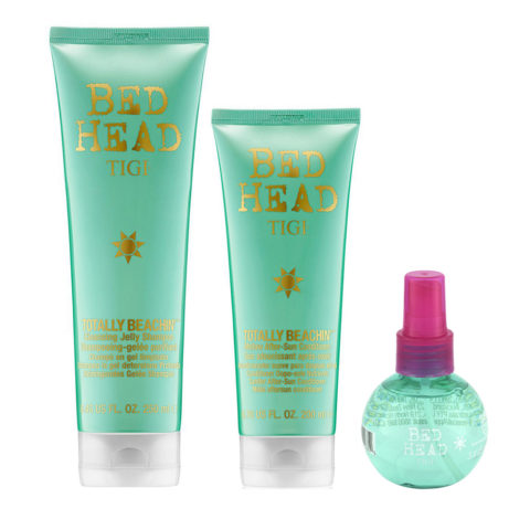 Tigi Bed Head Sun KitChampú 250ml Acondicionador 250ml Spray al Sal  100ml
