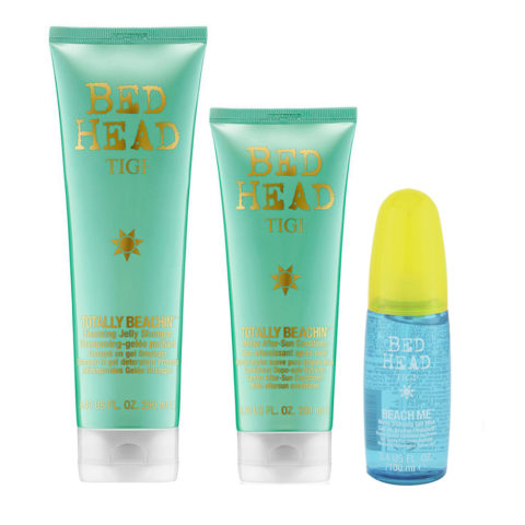 Tigi Bed Head Sun Kit Champú 250ml Acondicionador 250ml Gel Ondas 100ml