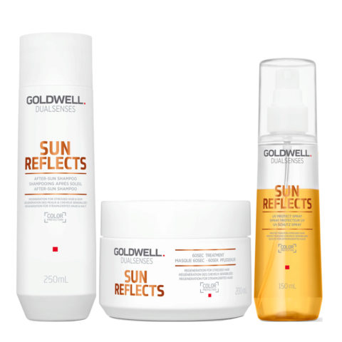 Goldwell Dualsenses Sun reflects Champú Solar 250ml Mascarilla Solar 200ml UV Protector Spray 150ml