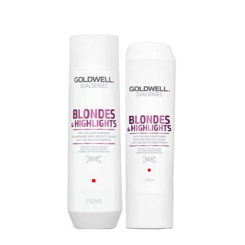 Goldwell Dualsenses blond & highlights Champú anti-amarillo 250ml y Acondicionador 200ml