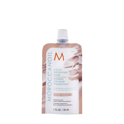 Moroccanoil Color Deposit Mask Rose Gold 30ml - Máscara de Color Oro Rosa