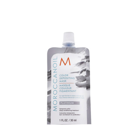 Moroccanoil Color Deposit Mask Platinum 30ml - Máscara de Color Platino