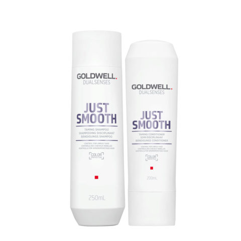 Goldwell Dualsenses Just Smooth Champú Anti-Frizz 250ml y Acondicionador 200ml
