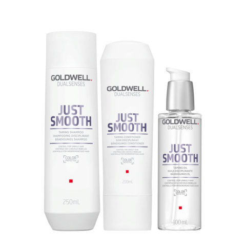 Goldwell Dualsenses Just Smooth Champú Anti-Frizz 250ml Acondicionador 200ml Aceite Anti-Frizz 100ml