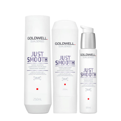 Goldwell Dualsenses Just Smooth Champú Anti-Frizz 250ml Acondicionador 200ml Serum 100ml