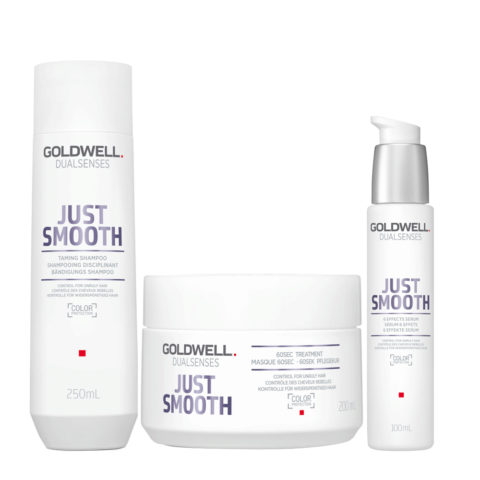Goldwell Dualsenses Just Smooth Champú Anti-Frizz 250ml Mascara 200ml Suero 100ml