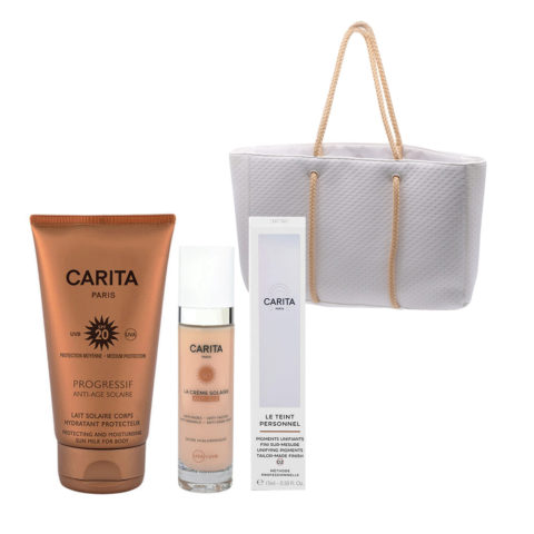 Carita Body Sun Protection SPF20, 150ml Face Protection SPF50+, 50ml Pigmentos Faciales Liquidos 02 Medium 15ml