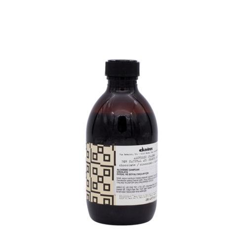 Davines Alchemic Shampoo Chocolate 280ml - Champú Para Cabello Castaño Oscuro