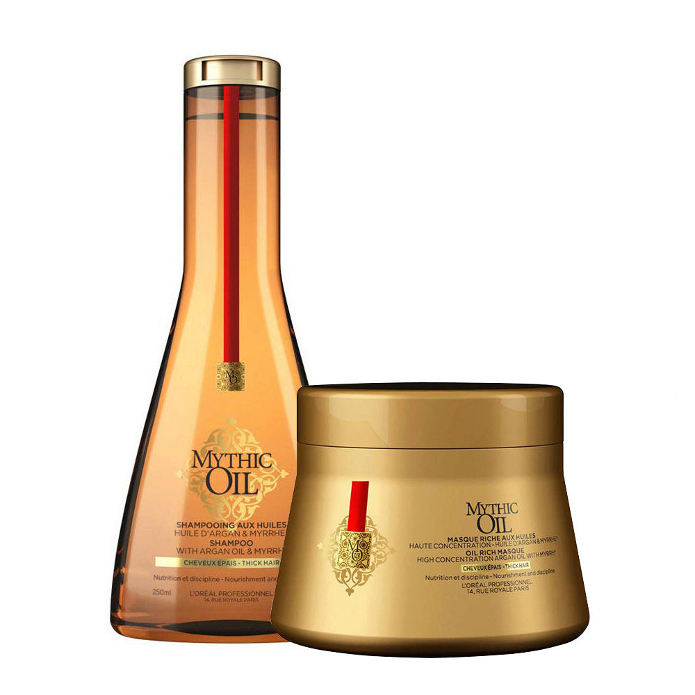 L'Oreal Mythic oil Shampoo 250ml Mascara 200ml para cabello grueso