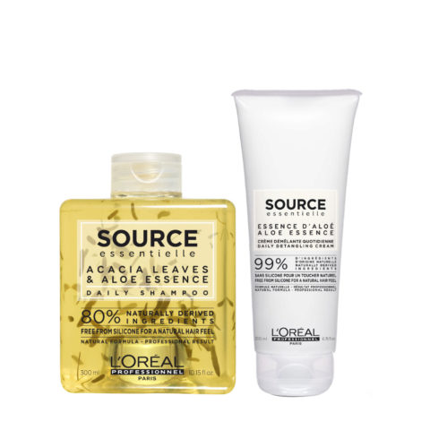 L'Oréal Source Essentielle Daily Shampoo 300ml and Conditioner 200ml daily use