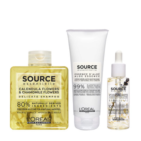 L'Oréal Source Essentielle Delicate Shampoo 300ml and Conditioner 200ml Aceite 70ml