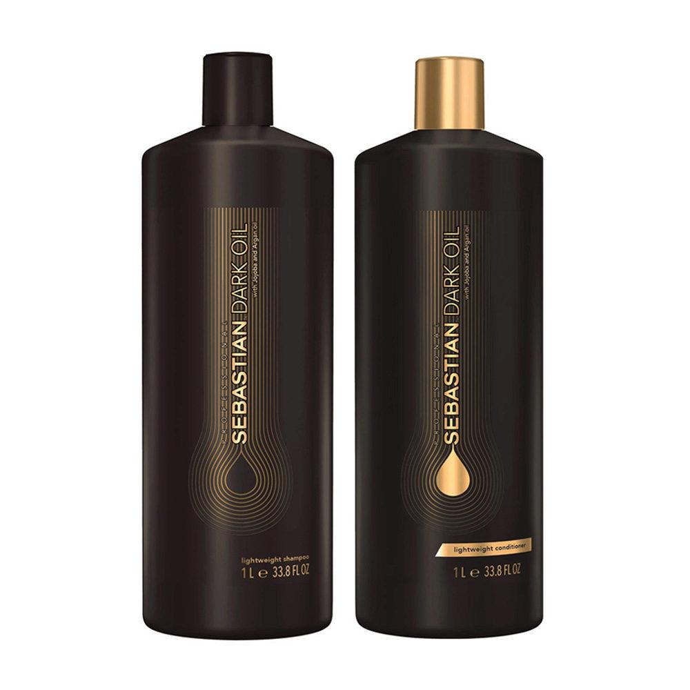 Sebastian Dark Oil Champù Hidratante Ligero 1000ml y Acondicionador 1000ml