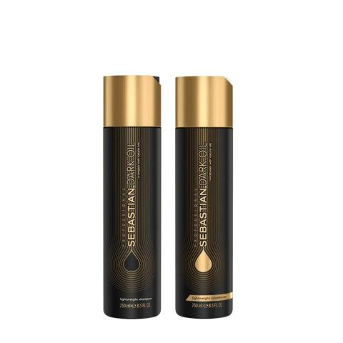 Sebastian Dark Oil Champù Hidratante Ligero 250ml y Acondicionador 250ml