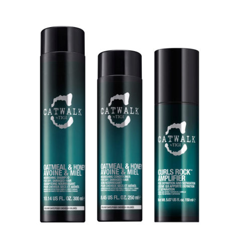 Tigi Catwalk Shampú   300ml Acondicionador 250ml  Curls Rock Amplifier 150ml