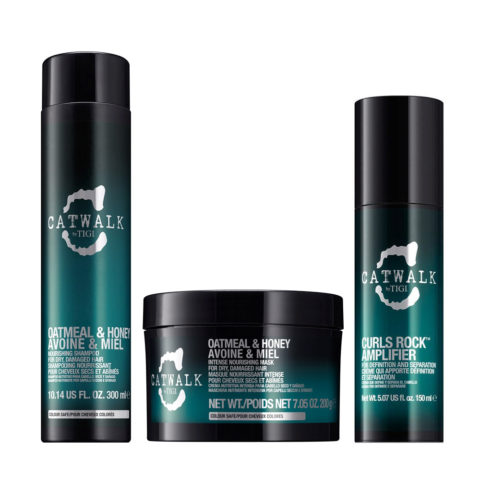 Tigi Catwalk Shampoo 300ml Mascarilla 200gr Curls Rock Amplifier 150ml
