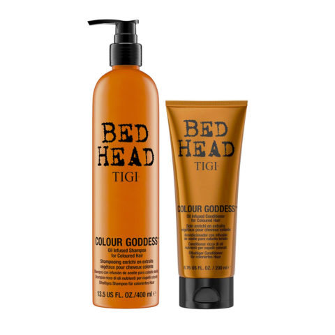 Tigi Bed Head Colour Goddess Oil infused Shampoo 400ml Acondicionador 200ml Cabello Tenido