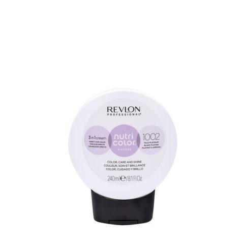 Revlon Nutri Color Creme 1002 Platino blanco 240ml - Mascarilla Color