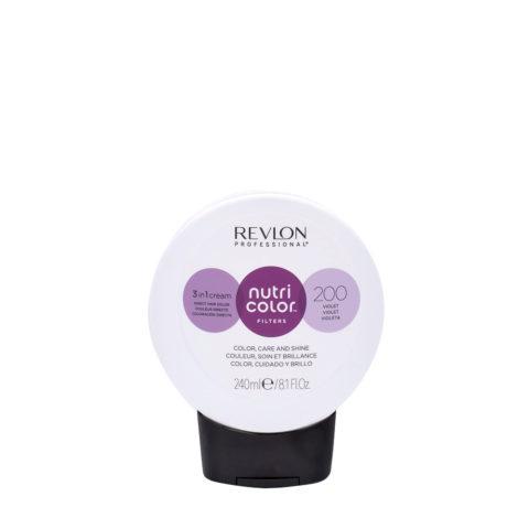 Revlon Nutri Color Creme 200 Violeta 240ml - Mascara Colore