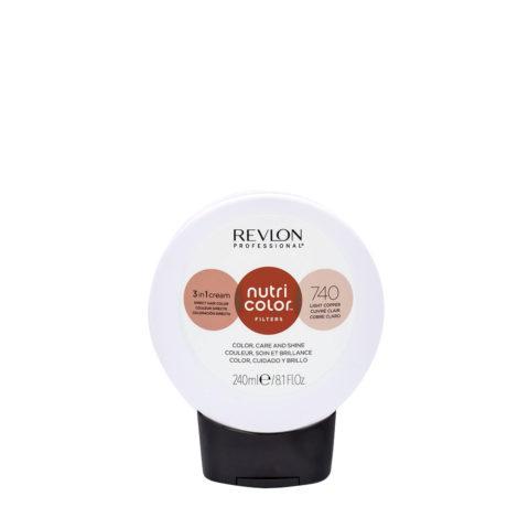 Revlon Nutri Color Creme 740 Cobre claro 240ml - Mascara Color