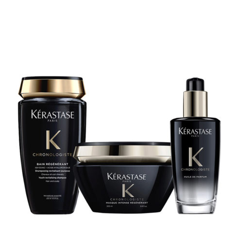 Kerastase Chronologiste Champu 250ml Mascarilla 200ml Aceite Perfumado Para Cabello 100ml