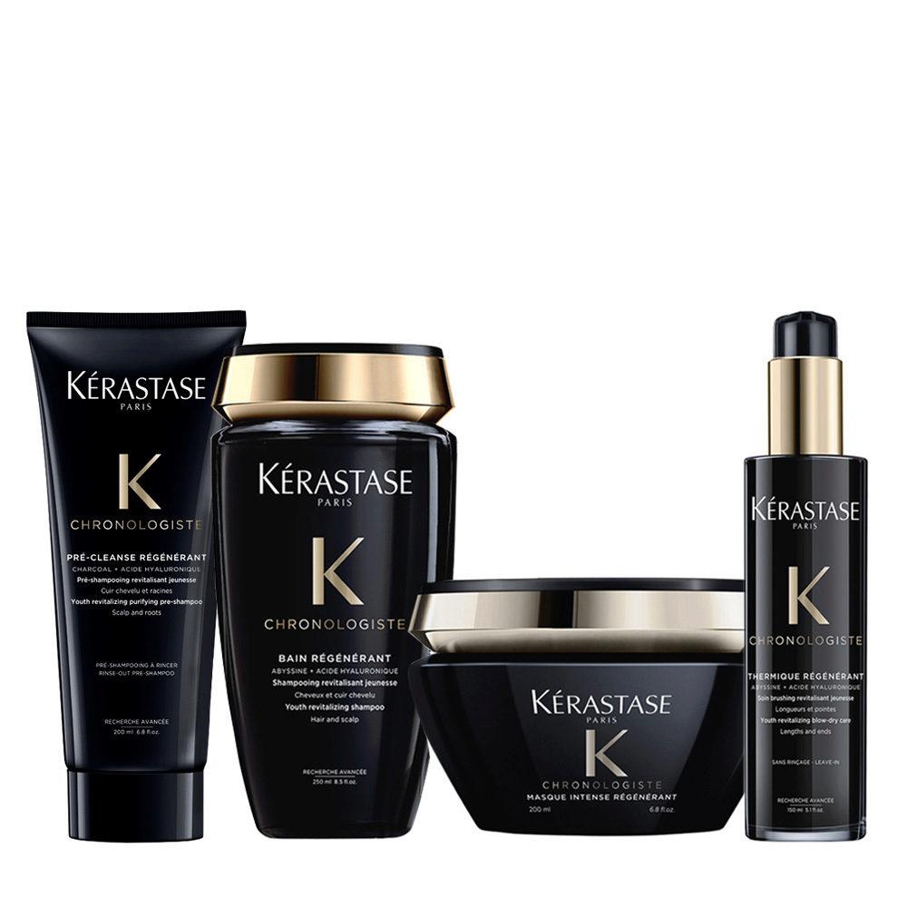 Kerastase Chronologiste Pre Shampoo 200ml Champu 250ml Mascarilla 200ml Crema 150ml