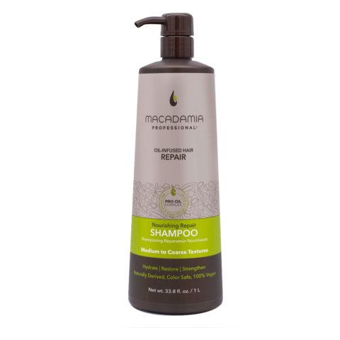 Macadamia Nourishing Repair Champú para cabello seco y dañado 1000ml