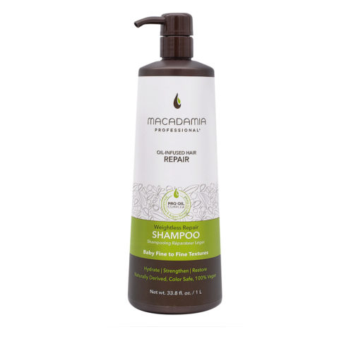 Macadamia Weightless Repair Shampoo 1000ml - Champù hidratante ligero
