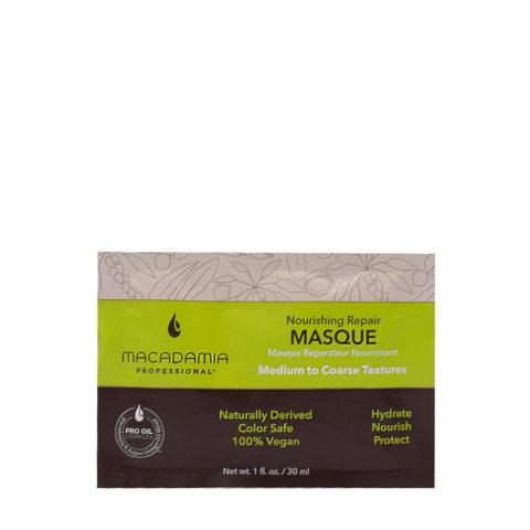 Macadamia Nourishing Repair Masque 30ml - Mascarilla hidratante nutritiva para cabello medio a grueso