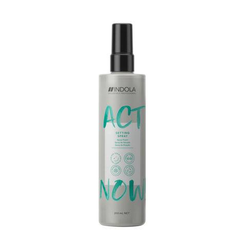 Indola Act Now! Spray Fijador Desenredante Todo Tipo de Cabello 200ml