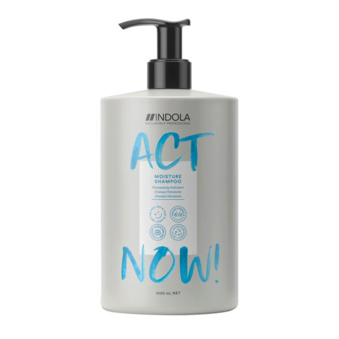 Indola Act Now! Champú Hidratante para Cabello Seco 1000ml