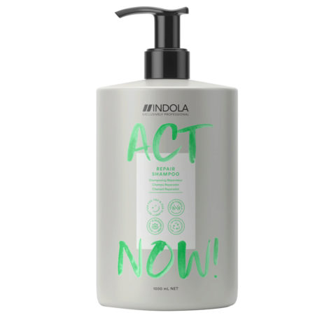 Indola Act Now! Champú Reparador para Cabello Dañado 1000ml
