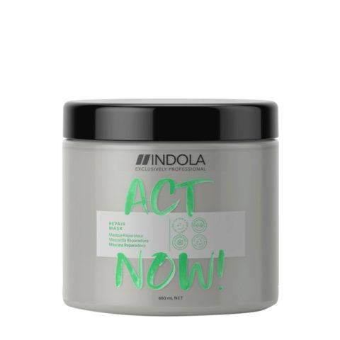 Indola Act Now! Mascarilla Reparadora para Cabello Dañado 650ml