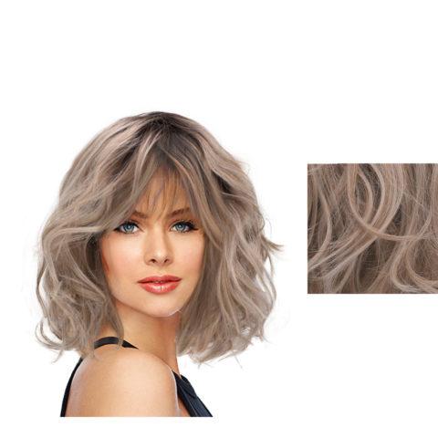 Hairdo On The Edge Peluca rubia ceniza clara con raíz marrón