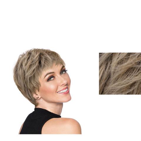 Hairdo Textured Cut Peluca rubia clara con raíz marrón
