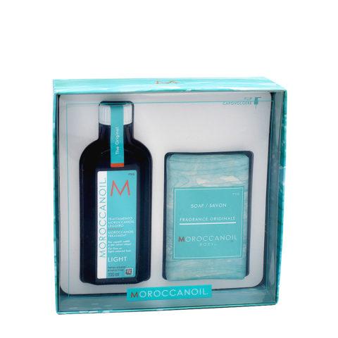 Moroccanoil Caja Regalo Aceite Ligero 100ml y Jabón Corporal 200gr
