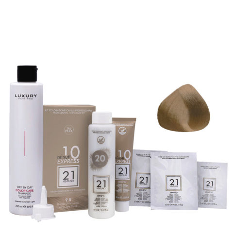 21 Ventuno Kit Color 9.0 Rubio Clarisimo + Champú Gratis 250ml