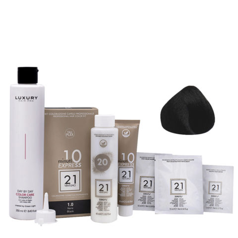 21 Ventuno Kit Color Profesional 1.0 Negro + Champú Gratis 250ml